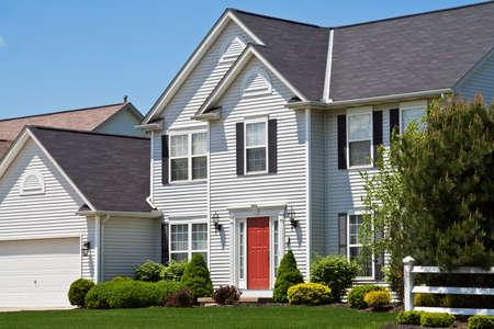 A beautiful american suburban home in Ohio.