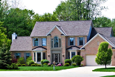 suburban: A very expensive home in a suburb of Cleveland Ohio.   Stock Photo