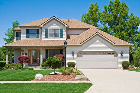 A very neat and tidy home in suburbs of Ohio Stock Photo - 3098052