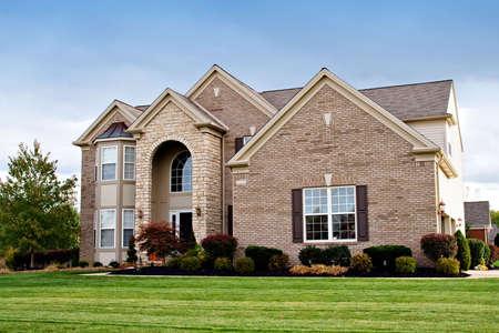 suburban: A house in a suburban neighborhood of Cleveland, Ohio.
