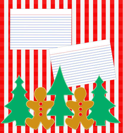 A christmas holiday recipe layout page. photo