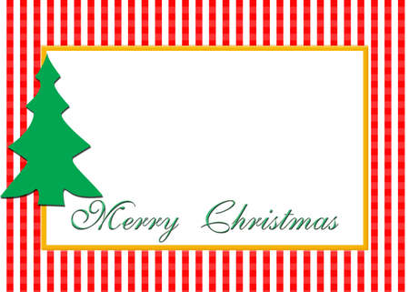 A Christmas card design with blank area for photograph.