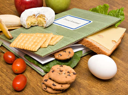 A food diary, journal - diet and health concept. Stock Photo - 4129714