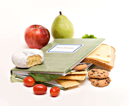 A food diary, journal; health diet concept. Stock Photo - 4146859