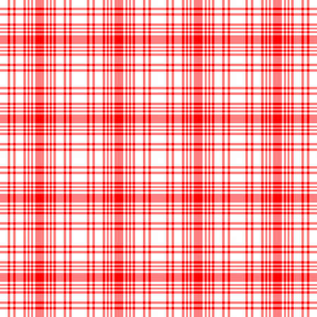 Red and white seamless plaid - tile to size, high resolution.  스톡 콘텐츠