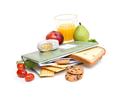 A diary or journal recording daily food consumption. Stock Photo