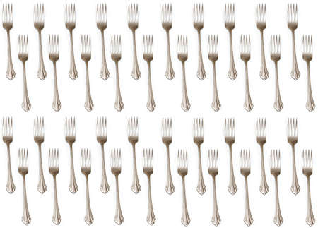 repeatable: A repeatable background of forks on white.