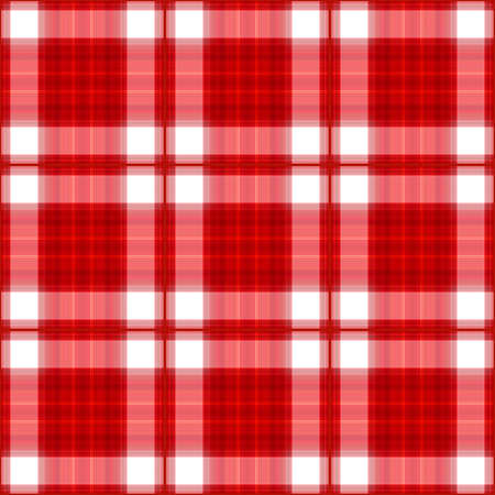 高解像度の赤い格子縞のシームレスな背景の図。