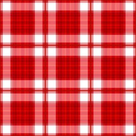 Hi-Res Red plaid seamless background illustration.  illustration