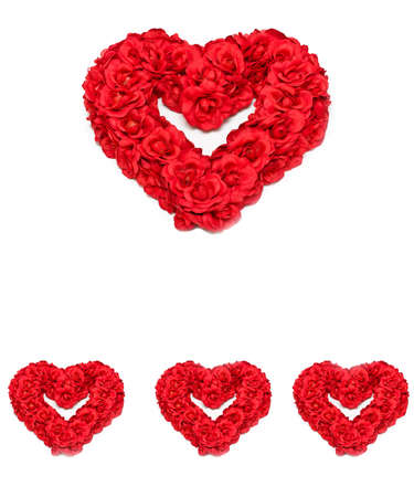 Red roses formed into heart-shaped wreathe. Stock Photo - 4306549