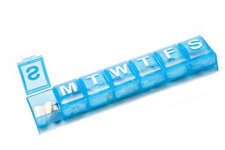 dosaggio: Una settimana 'vale la pena di farmaci in un riquadro blu pillola.