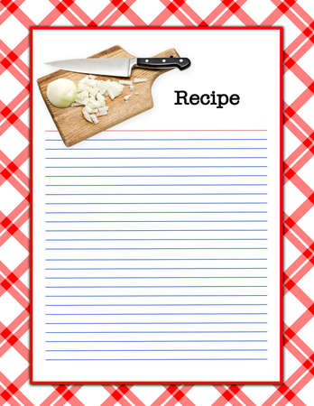 A red white recipe layout - matching background, menu page,  recipe layouts available in my portfolio.