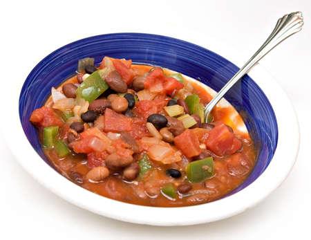菜食主義のチリのボウル。