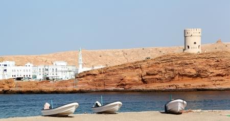 Sur Watchtower and coastline, Oman