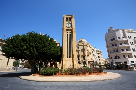 Downtown Beirut, Lebanon  wide angle view