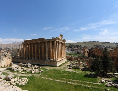 Baalbeck Roman Ruins, Lebanon Stock Photo