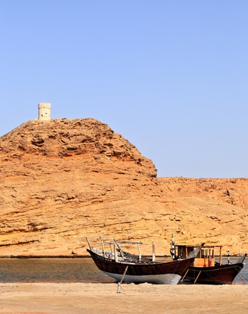 Tradtional fishing Dhows, Oman