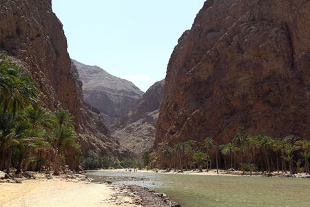 Wadi Shab, Oman Stock Photo