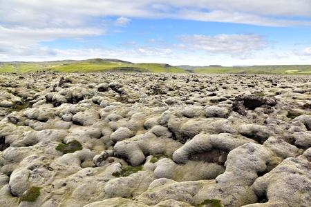 Icelandic Lava Field Landscape