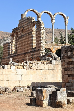 Anjar  the Palace  Lebanon  Stock Photo