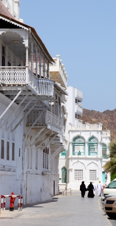 muttrah: Traditional Omani Houses Stock Photo