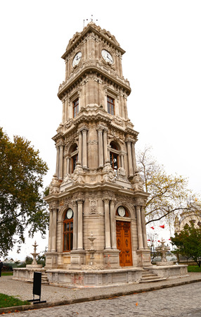 The Clock Tower at the Dolmabahce Palace  IStanbul   photo