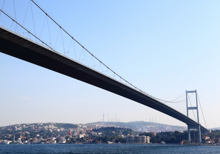 The First Bosporus Bridge connecting Europe and Asia  Turkey   The First Bosporus Bridge connecting Europe and Asia  Turkey  photo