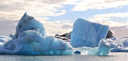 jokulsarlon: Blue Iceberg, Iceland