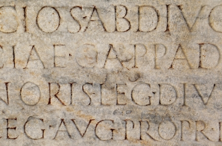 Ancient Roman Writing Stock Photo