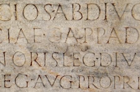 linguistics: Ancient Roman Writing Stock Photo