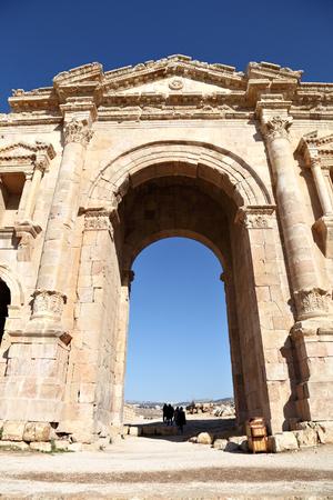 hadrian: El Arco de Adriano, Jerash - Jordania