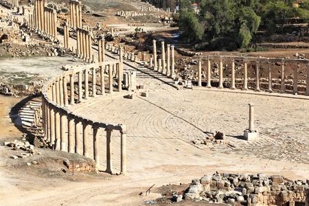 Ruin Temple in Jerash, Jordan