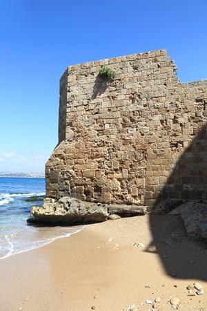 lebanon beach: Tyre Coastline, Lebanon Stock Photo