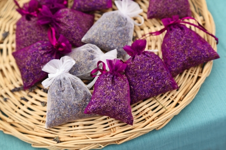 sachets: Lavender Sachets Stock Photo