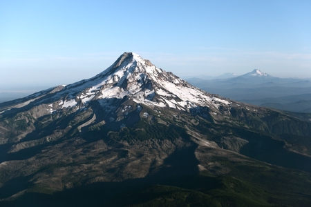 mt: Mt Hood and the Three Sisters Stock Photo