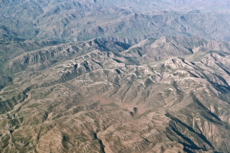 aerial photograph: Aerial Landscape Stock Photo