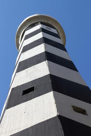 beirut: The old abandoned Manara Lighthouse in Beirut Stock Photo