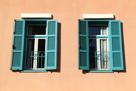 architectural  detail: Beirut Architectural Detail: Green Shutter Windows