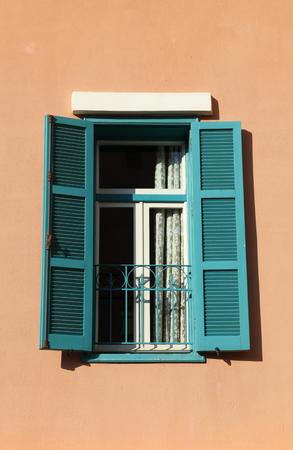 beirut: Beirut Architectural Detail: traditional green shutter window
