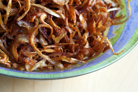 onions: Fried Onions Stock Photo