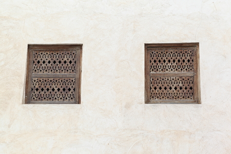 gcc: Traditional Arabic Windows Stock Photo