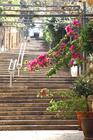 st nicholas: St Nicholas Stairway, Gemmayzeh - Lebanon Stock Photo