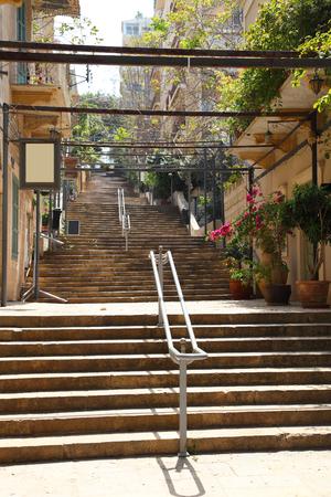 beirut: St Nicholas Stairs, Gemmayzeh - Beirut Stock Photo