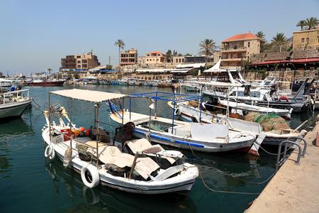 lebanon: Byblos Harbor, Lebanon Stock Photo