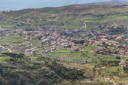 lebanon: Lebanon Landscape with rural village