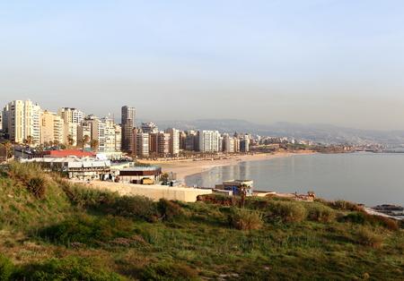 lebanon beach: Ramlet El Baida Beach, Beirut Stock Photo