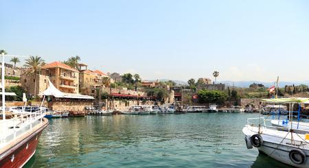 lebanon: Byblos town and harbor, Lebanon Stock Photo