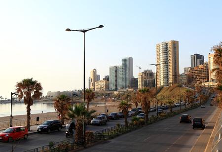 lebanon beach: Beirut, life in the city Stock Photo