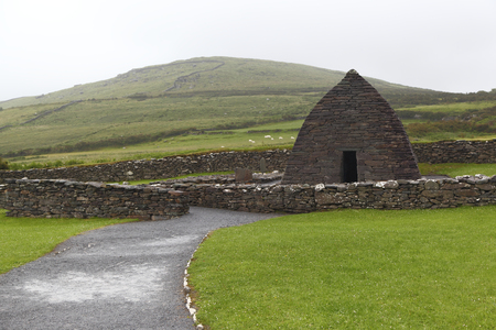 Remains of 7th century church Gallarus Oratory- Ireland Stock Photo