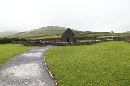 Remains of 7th century church Gallarus Oratory- Ireland Stock Photo